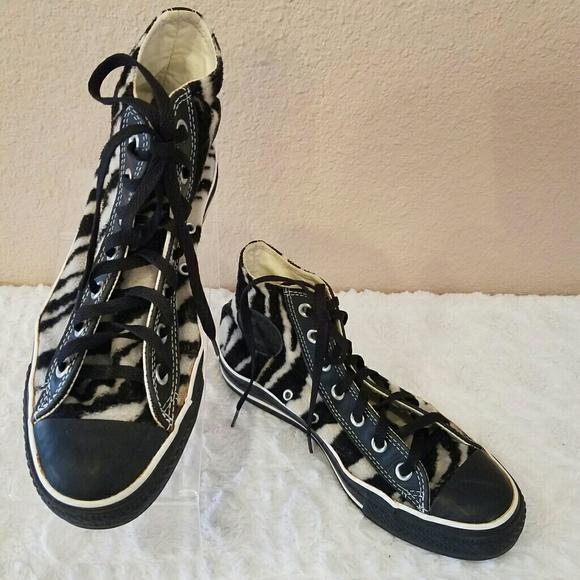 a4f84ef222d5 Converse Shoes - Converse Chuck Taylor Furry Zebra Print High Top